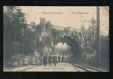 Belgium BRUSSELS Bruxelles Pont Rustique & railway Used 1910 PPC