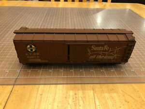 Wooden O Scale Train Kit Assembled ATSF Santa Fe 52070 Brown Box Car NICE