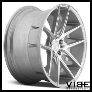 """20"""" NICHE TARGA SILVER CONCAVE WHEELS RIMS FITS FORD MUSTANG GT"""