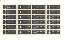 China Macau OLD Air mail Label full sheet RARE MNH