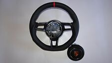PORSCHE 911 991 R STICK  SHIFT BLK LEATHER RED TOP  STEERING WHEEL FLAT A BAG