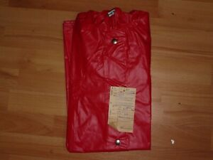 alter DDR Regenumhang für Kinder Größe 146 rot Regen Cape OVP VEB Ellefeld