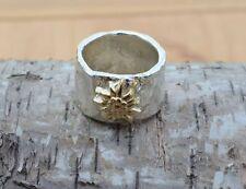 Dirndl Trachten Ring rustikal Edelweiß Wiesn Dirndl Silber 925 Gold 750 Blüte