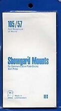 Showgard Stamp Mounts Size 105/57 BLACK Background Pack of 20