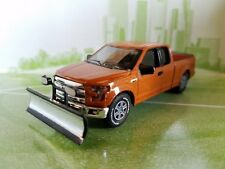 2015 FORD F-150 WITH SNOW PLOW & SALT SPREADER DIE-CAST CAR COLLECTIBLE MODEL