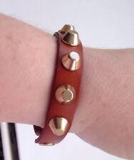 Leather Stud Bracelet Bn