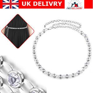 Diamante Ladies Silver Waist Chain Belt for Ladies Girls Charm Fashion Dresses