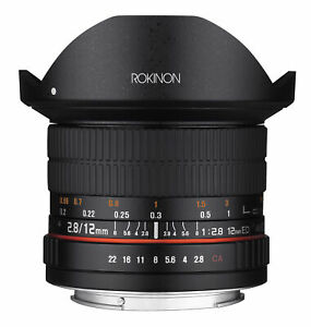 Rokinon 12mm F2.8 Full Frame Fisheye Lens (Nikon F with Automatic Chip)