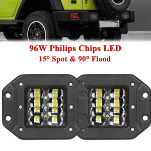 LED Driving Work lights  Reverse Lamps Spot & Flood beam For Truck 4x4 SUV Jeep