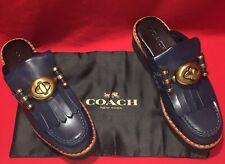 Coach Q8804 Turnlock Creeper Slide Shoe Size 6 M Color Blue