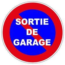 PORTAIL PARKING SORTIE GARAGE STATIONNEMENT INTERDIT PANNEAU INTERDICTION