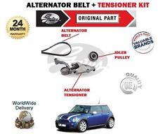 Para Mini Cooper 1.6 S Jcw 2004-2008 Alternador Ventilador Cinturón + Tensor Polea Kit