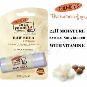 Palmers Lip Balm Raw Shea Butter Shea Formula With Vitamin E 24H Moisture 4g