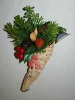 Vintage Christmas Decoration Cornucopia Made In Hong Kong For Royal Pacific Inc.