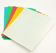10/12/15x A4 Coloured Double Sided Card Sheets Arts & Craft Creative Paper Cards