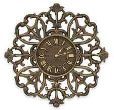 Aged Bronze Filigree Wall Clock, Rustic Charm, In & Outdoor Home Art Decor Large