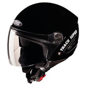 Studds Track Super Open Face Helmet Black Colour With Visor