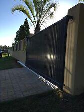 4M x 1.6M  Vertical Batten / Slat ALUMINIUM DRIVEWAY SLIDING GATE