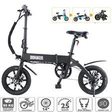 """DOHIKER Bicicletta Elettrica Pieghevole 14"""" E-Bike 250W 25km/h Con faro a LED EU"""