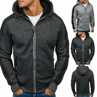 Fashion Mens Hoodie Warm Zip Hoody Hooded Sweatshirt Coat Jacket Outwear Sweater