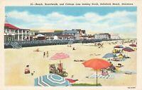 Postcard Beach Boardwalk Cottage Line Rehoboth Beach Delaware
