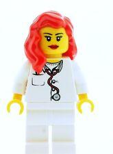 Lego Hembra Nurse doctor Medic Minifigura Nuevo Ciudad City