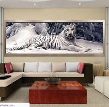 """Diamond Painting Mosaikbild Klebebild """"weißer Tiger"""", Teilbild, Größe 160x48 cm"""