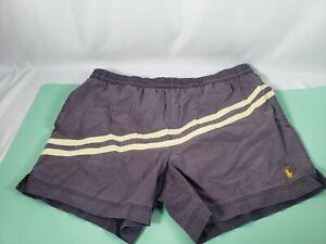 Men's Polo Ralph Lauren Swim Trunks Pony Board Shorts Pockets Large Gray