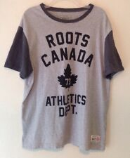 Roots Canada Athletic Department Maple Leaf Gray Black Shirt - XL