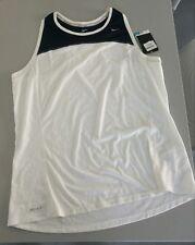 Nike Womens Running DRI FIT XL Canotta Maglia  Fitness - Corsa - Bianca - White