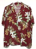 Hilo Hattie Men Aloha Casual Shirt Orchid Flower Shirt Rayon XL floral. Original