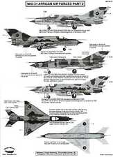 Berna Decals 1/72 MIKOYAN MiG-21 FISHBED Fighter African Air Forces Part 2