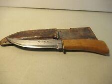 Solingen Original Buffalo Skinner Fixed Blade Knife W Sheath Free USA Shipping