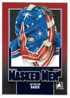 2013-14 Steve Baker ITG In The Game Between the Pipes Masked Men - NY Rangers