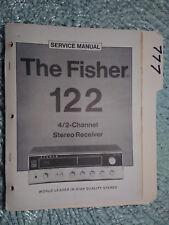 Fisher 122 service manual original repair book stereo receiver tuner radio