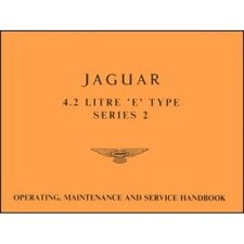 Jaguar E-Type 4.2 Litre Series 2 Handbook book paper car