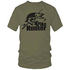 PIKE HUNTER t-shirt perch, muskie walleye, fishing rod spinning Christmas gift