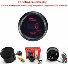 "2"" 52mm Red Digital LED Water Temp Temperature Gauge With Sensor Car renovation"