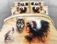 Indien Brave Guerrier Parure de lit ensemble de lit-double-Taille + envoi gratui...