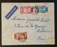 1931 Kindia French Guinee to Paris France Fort at Kitim Stamps Airmail Cover