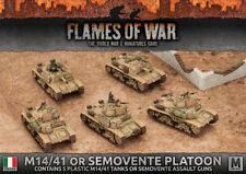 Flames of War Italian IBX14 M14/41 or Semovente Platoon Battlefront Plastic