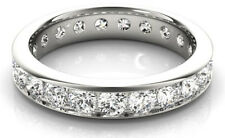3.42 carat Diamond Eternity Ring Wedding Band, Channel set size 6, G color SI1