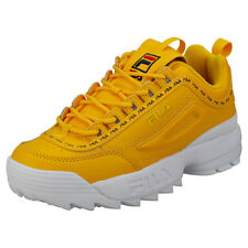FILA Disruptor II Premium Repeat Womens Yellow Trainers - 4 UK