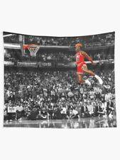 Michael Jordan Dunk Poster Wall Tapestry, Michael Jordan PosE Wall Hanging