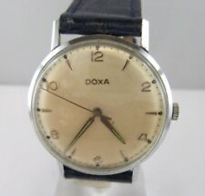 """C900 ⭐⭐ Vintage"""" DOXA """" cal. 11,5 -103 Cuerda manual Pulsera de cuero ⭐⭐"""