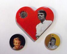 Lot pendentifs Coeur Claude Francois CLOCLO ceramique raku  collage