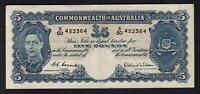 Australia R-48. (1952) Five Pounds. Coombs/Wilson -  George VI..  gVF - Crisp