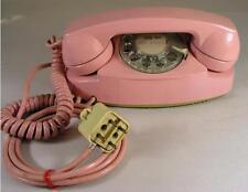 Vintage 1970's ITT Pink Princess Style Rotary Desk Telephone Phone