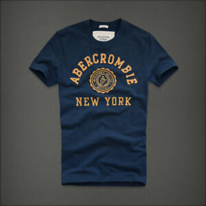 "NEW Abercrombie & Fitch @ Men's T-Shirt Dark Blue  ""Baker Mountain""  @ Size S"