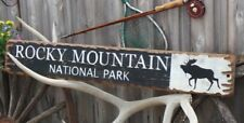 Rocky Mountain National Park Sign,Colorado Decor,Wood Sign,Log Cabin decor